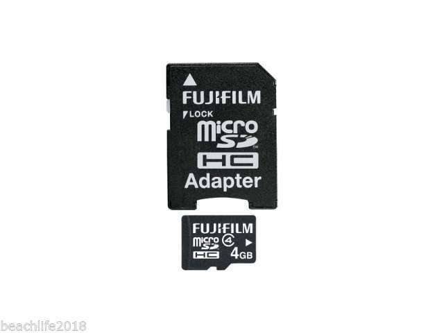 FujiFilm 4GB Micro SDHC Digital Memory Card with Adapter FAST Shipping