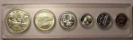 Gem Unc Canada 1959 6 Coin Mint Set With Silver~Excellent~Free Shipping - $127.39