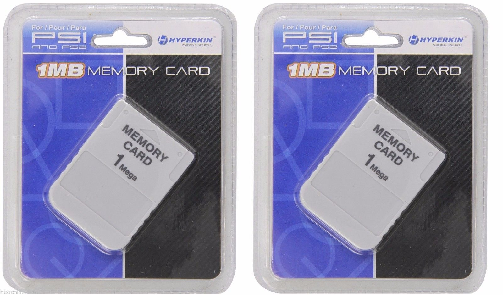2 Pack of Hyperkin PS1 Memory Card 1 MBPlaystation 1 PS1 PSX Game BRAND NEW