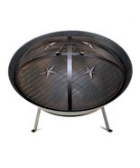 Western Star Cast Iron Fire Pit with Mesh Lid Y... - $77.00