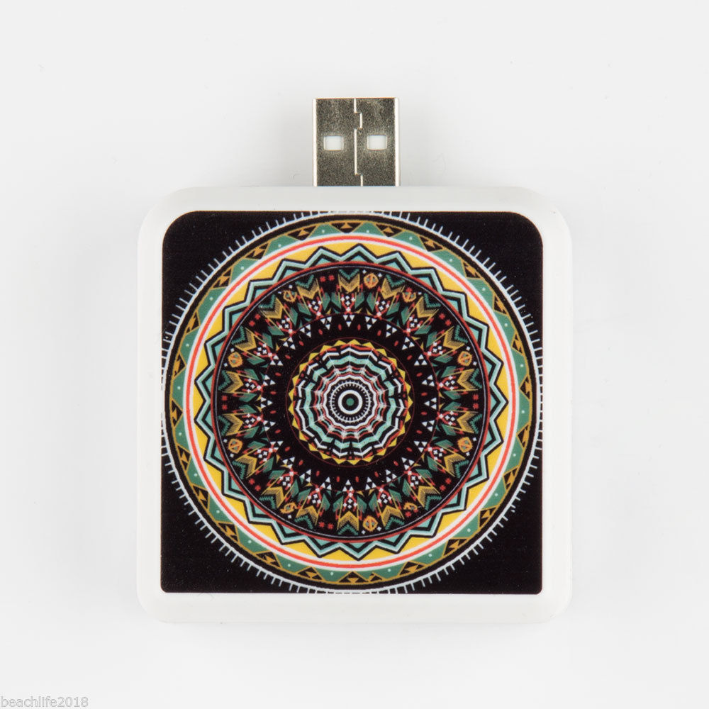 Portable Battery Pack Tribal Round Print for Cell Phone