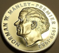 Rare Silver Proof Jamaica 1975 $5~Norman Manley~16,000 Minted~Free Shipping - $42.33