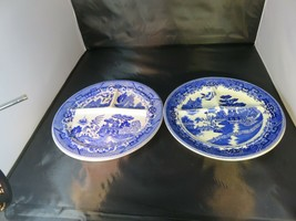 VINTAGE Set of Two Blue Willow Floware CHina ONE SHENANGO CHINA on made ... - $17.59