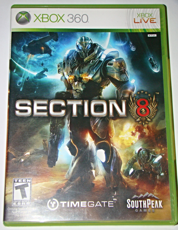 XBOX 360 - SOUTH PEAK GAMES - SECTION 8 (Complete with Instructions)