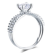 925 Sterling Silver Wedding Engagement Ring 1.25 Carat Round Lab Created... - $119.99