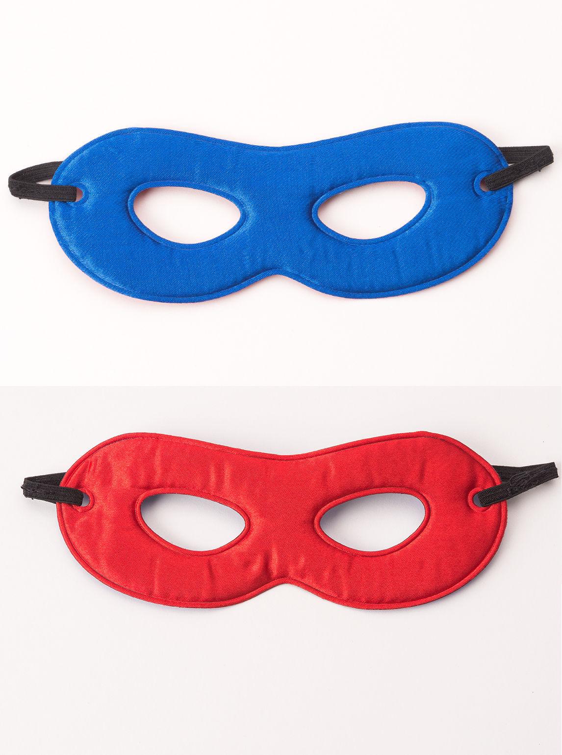 Boy or Girl Super Hero Power Mask 2 Color Reversible Nylon Rounded Eyes