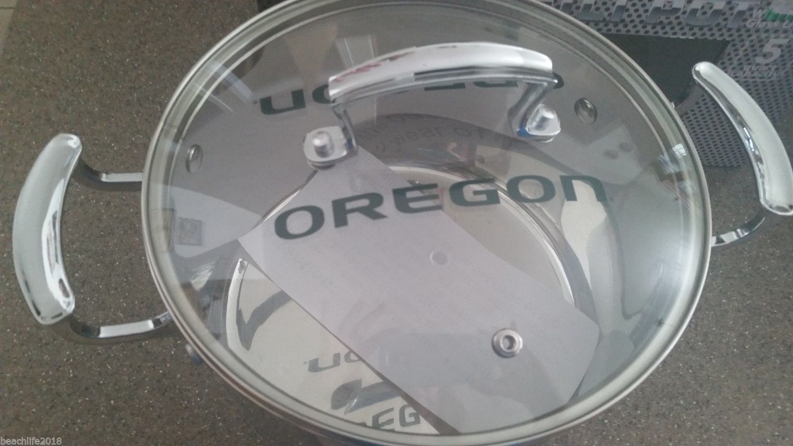 Chili Pot University of Oregon Logo Ducks NEW 5 Quart Stainless Steel Football