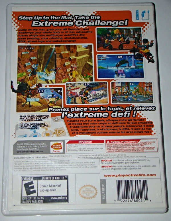 Nintendo Wii - ACTIVE LIFE extreme challenge (Complete with Instructions)