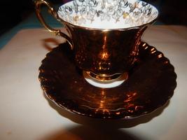 Royal Albert Stunning Gold cup and saucer bone china England Free shippi... - $49.99