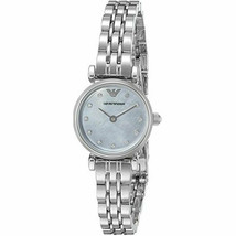 New Emporio Armani Women's Mother of Pearl Dial Stainless Steel Watch AR1961 - $140.24