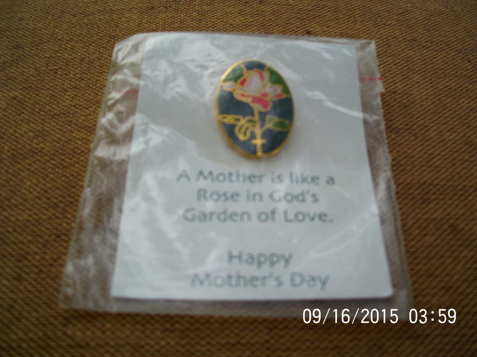 Mother's Day Pin with Flower