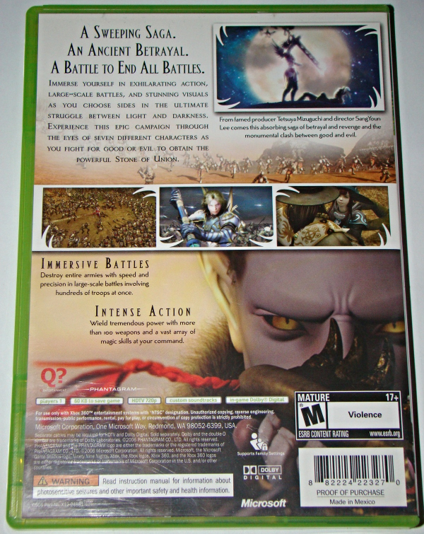 XBOX 360 - N3 NINETY-NINE NIGHTS (Complete with Manual)