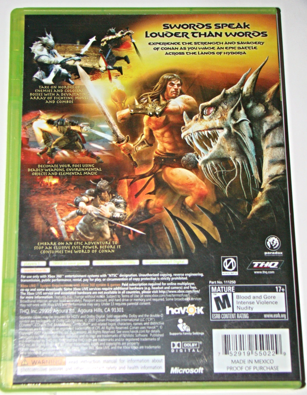 XBOX 360 - THQ - CONAN (Complete with Instructions)