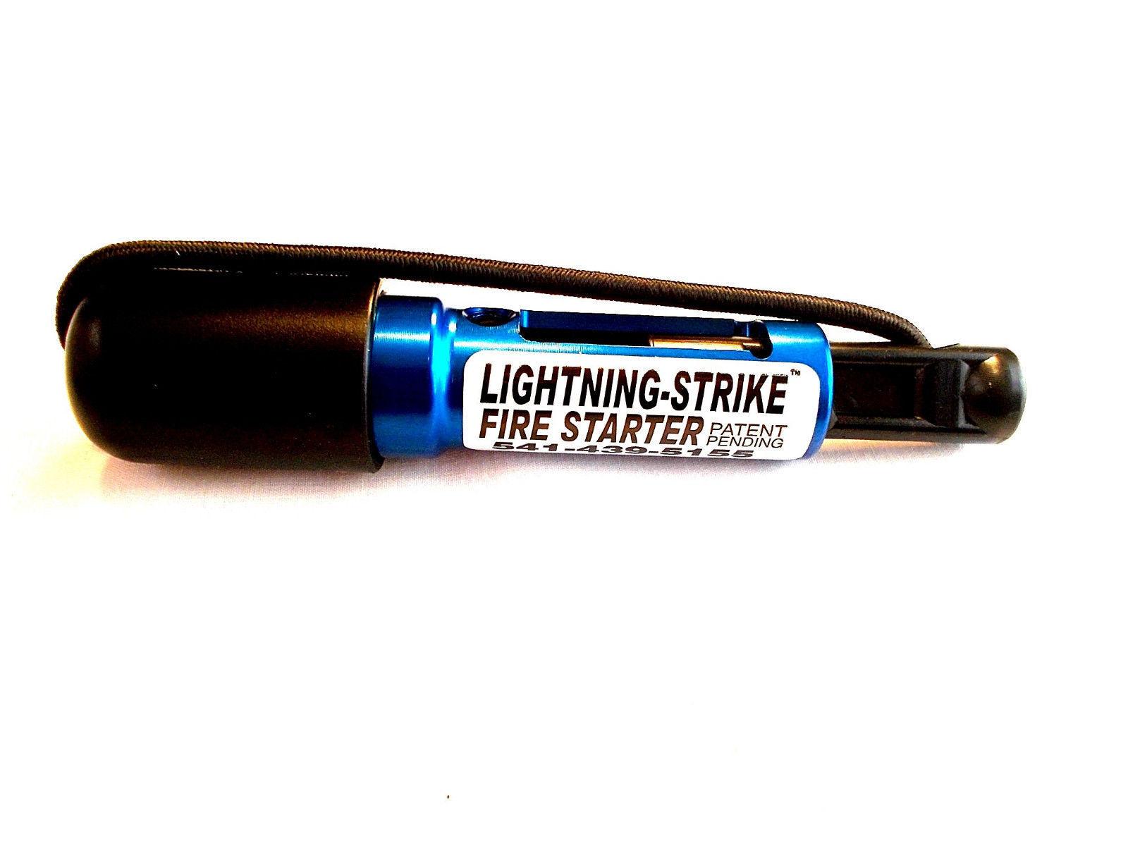 BEST FIRE STARTER ON THE PLANET.    The Holland Blue Mini Lightning Strike  USA