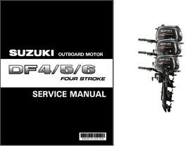 Suzuki DF4 DF5 DF6 Four Stroke Outboard Motor Service Repair Manual CD  DF 4 5 6 - $12.99