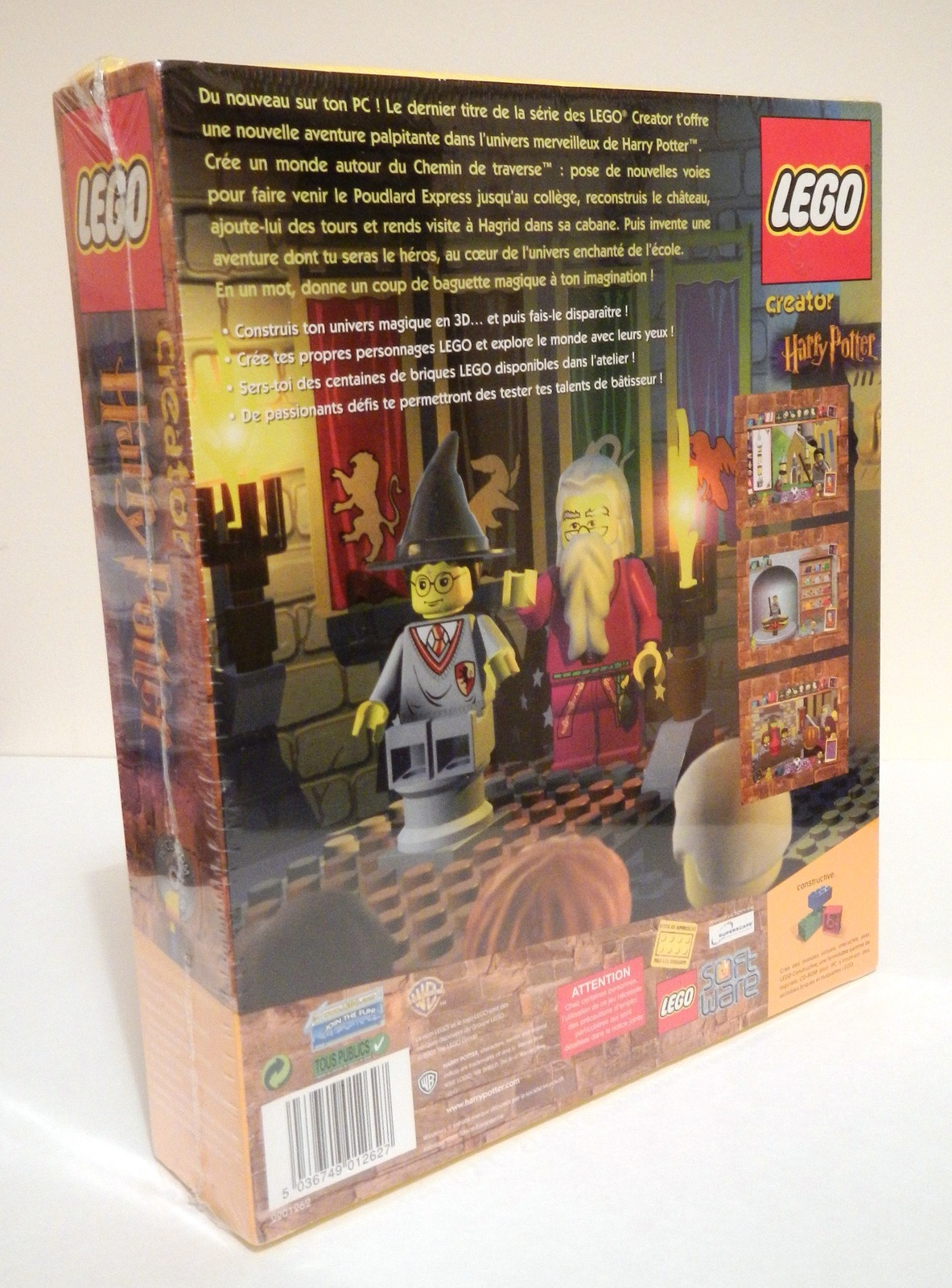 Lego Creator Harry Potter PC CD Rom FRENCH Edition NEW - 2001