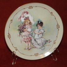 Bridesmaid Maud Humphrey Bogart Playing Little Ladies Collector Plate Victorian - $36.71