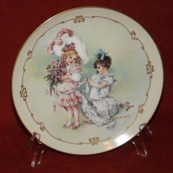 Bridesmaid Maud Humphrey Bogart Playing Little Ladies Collector Plate Victorian