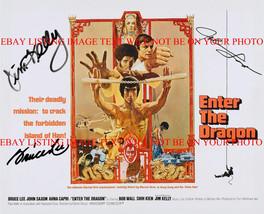 Bruce Lee Jim Kelly & John Saxon Enter The Dragon Cast Autographed 8x10 Rp Photo - $18.99