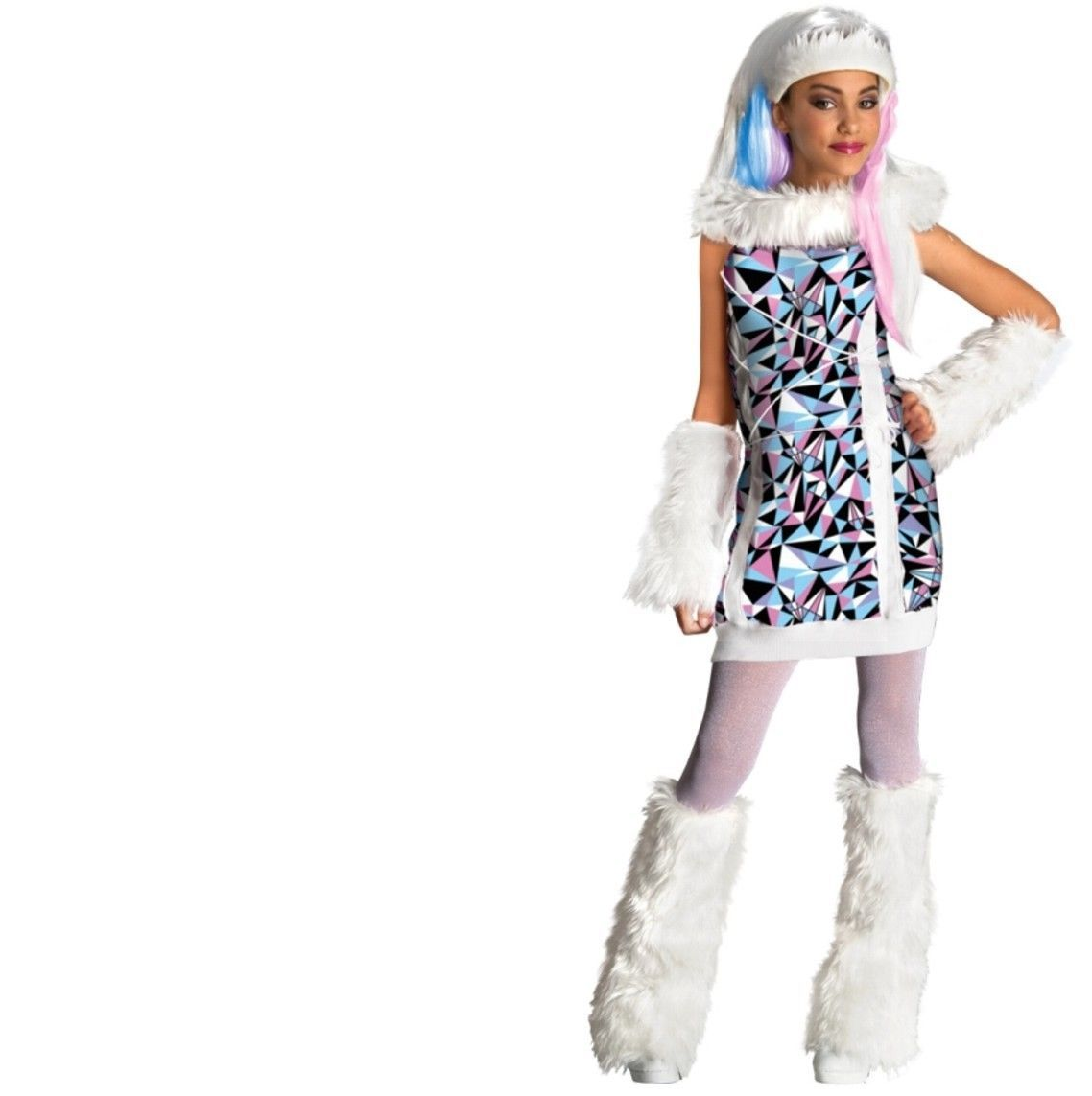 Monster High - Set - Costume + Wig - Abbey Bominable - Child - Medium