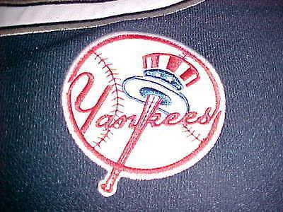 True Fan MLB AL East New York Yankees Scripted Blue Gray Baseball Jersey L New