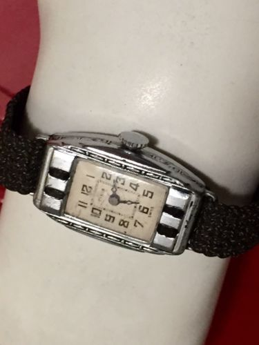 "1930'S DECO SWISS VINTAGE LADIES  WATCH ""REALLY NICE"""