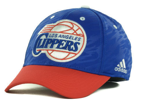 """Los Angeles Clippers NBA Adidas """"Courtside 2 Tone"""" Stretch Fitted Hat New"""