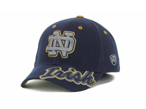 """Notre Dame Fighting Irish NCAA TOW """"Downshift"""" Stretch Fitted Hat New"""