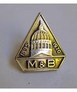 Sterling Silver M&B Pin Merchants & Business Me... - $9.89