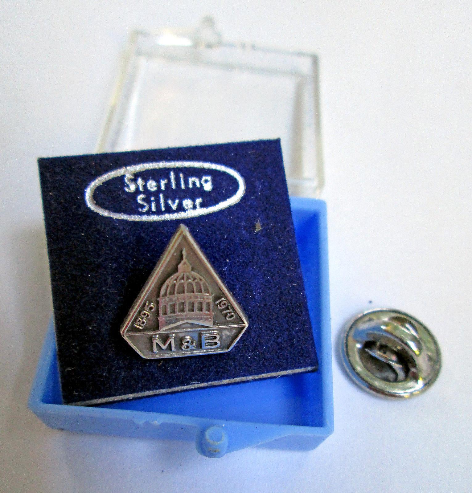 Sterling Silver M&B Pin Merchants & Business Men's Mutual Insurance Co. Liberty