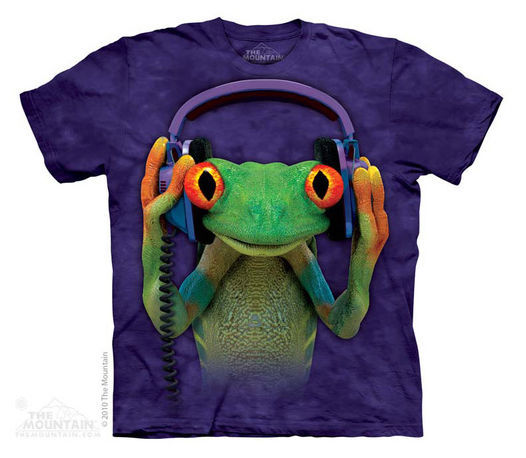 New DJ Peace Frog Youth Medium T-shirt by the Mountain Nature Tee