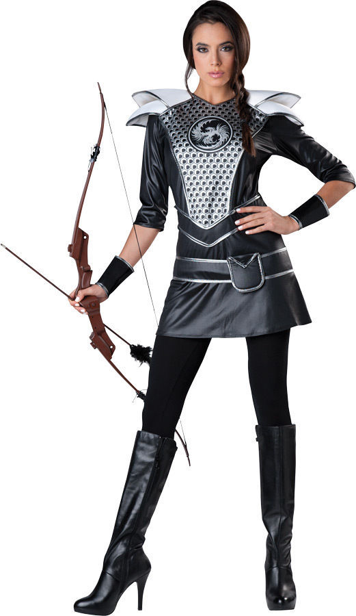 Midnight Huntress Adult Women Costume Katniss Hunger Games Theme Party Halloween