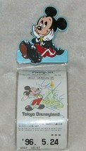 Magic Kingdom Club Mickey Mouse Disney Passport Holder Pin Tokyo Disneyland 1996 - $39.59