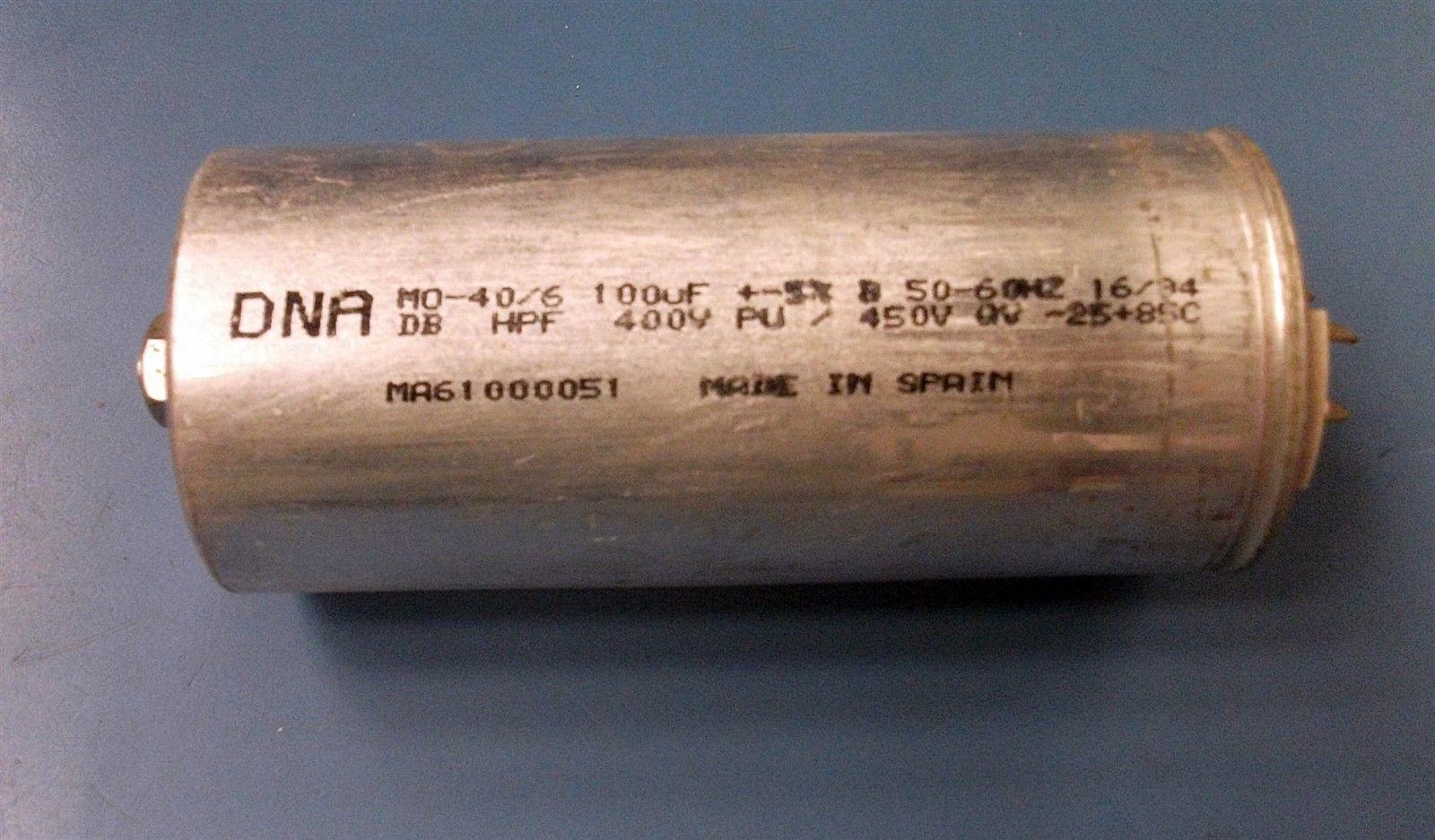 DNA Capacitor Start/Run 100 mf 400/450 V 50/60Hz USED