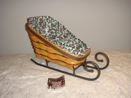 Longaberger 1999 Holiday Sleigh Combo With Liner And Divided Protector - $63.99