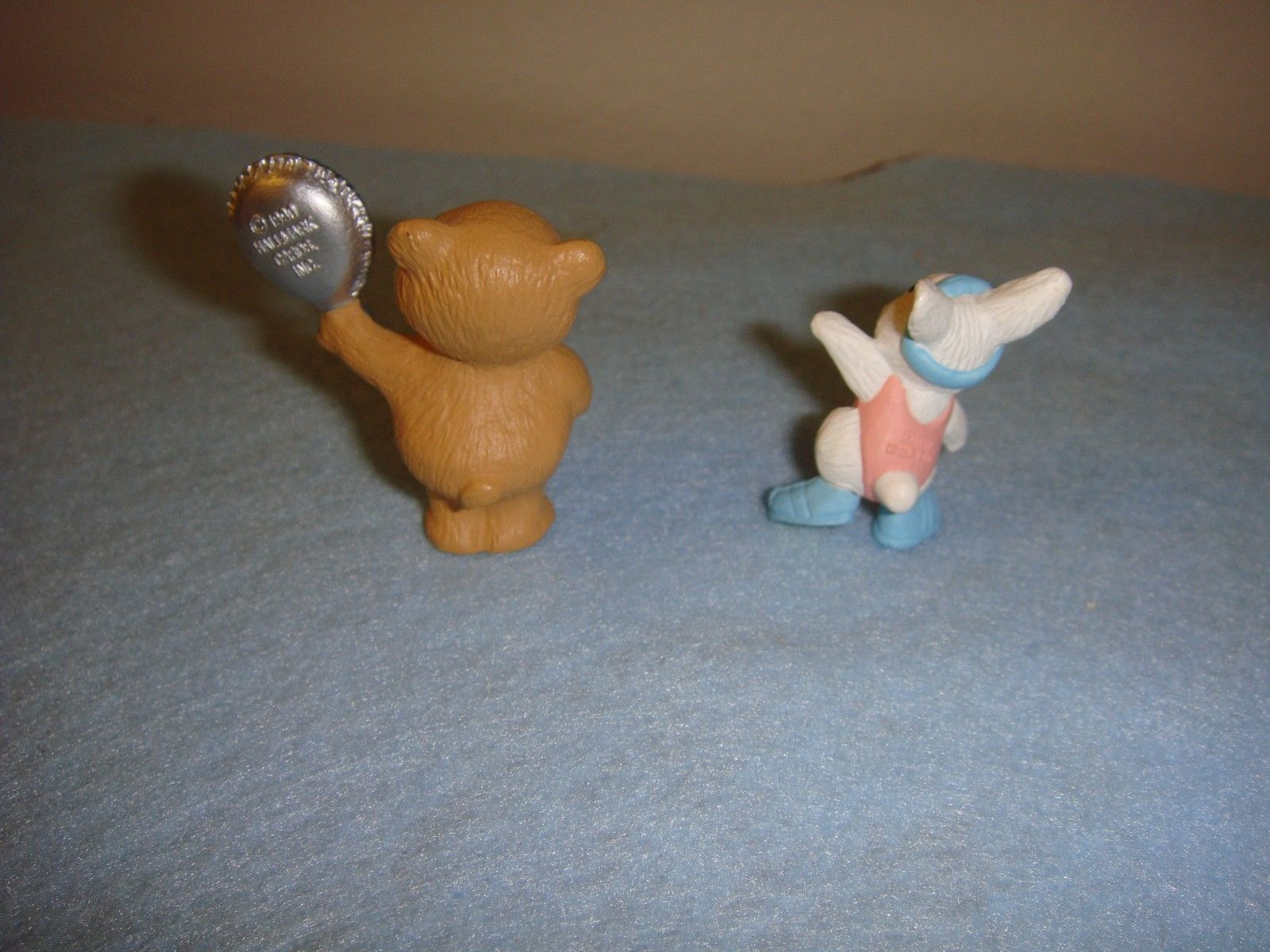 Hallmark Merry Miniatures 1990 Grin And Bear It And 1991 Aerobic Bunny