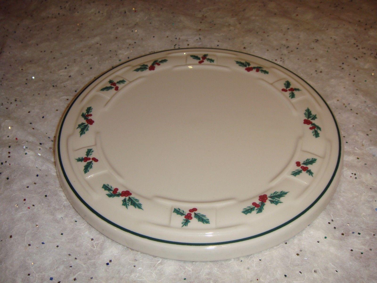 Longaberger Traditional Holly Trivet Plate