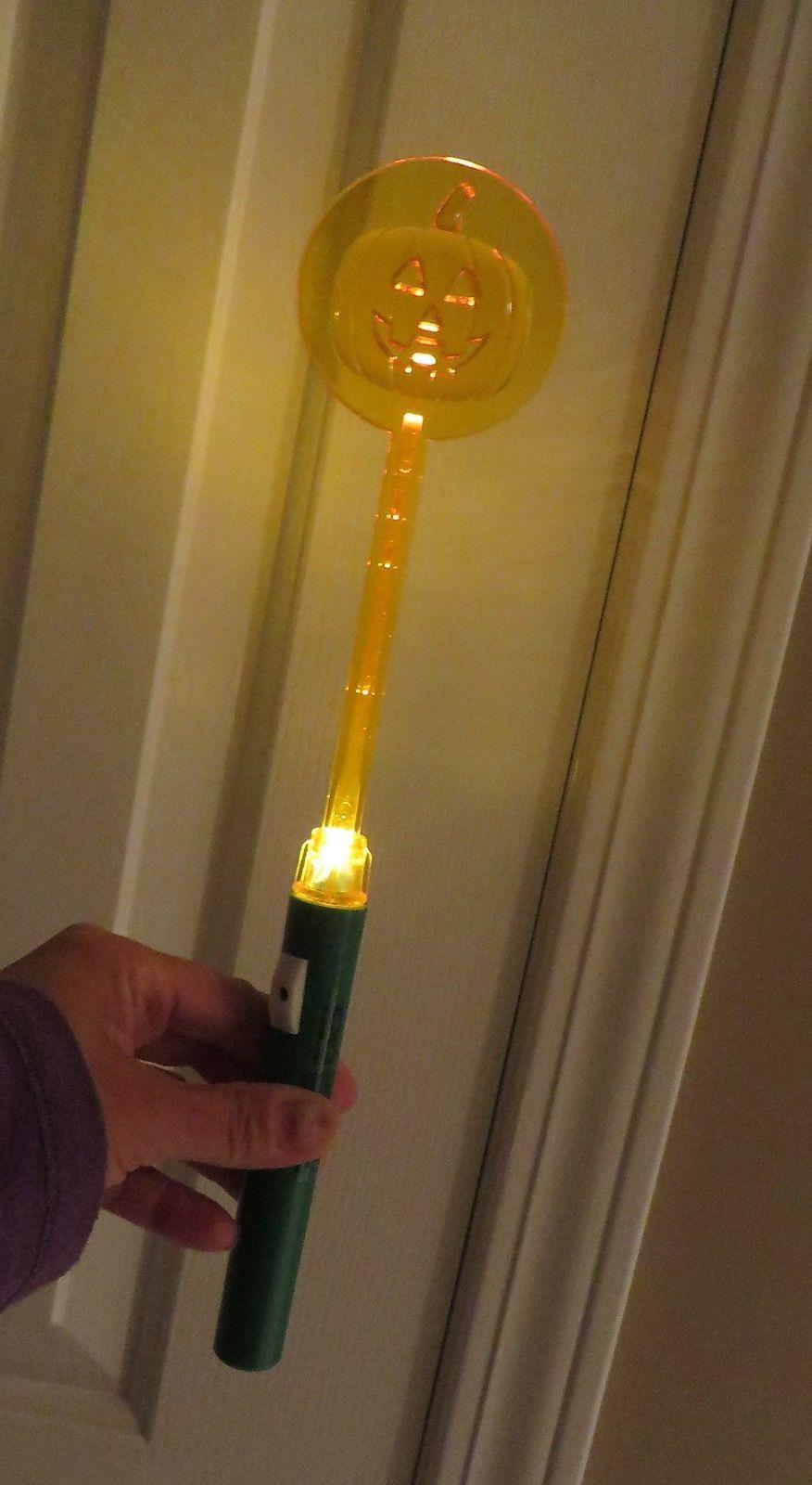 Lot of 10 Halloween Pumpkin Light Sticks Nite Lite for Trick-or-Treating NIP!