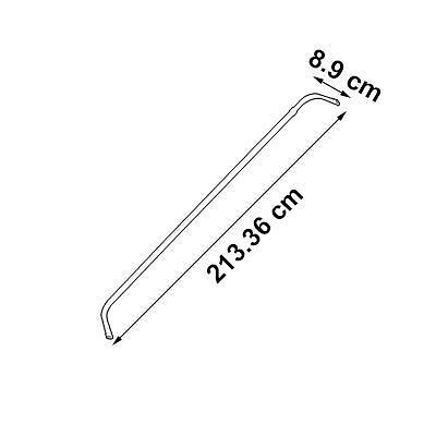"""Graber Lock Seam Curtain Rod, 84- 120"""" Adjustable , 3 1/2-Inch Projection, White"""