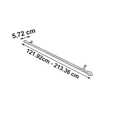 Graber 3/4-Inch Round Cafe Curtain Rod (48 to 84-Inches, Nickel) MPN# 2-462-78