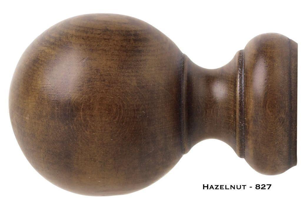 """Wood Ball Finials - Kirsch Wood Trends - 1 3/8"""" - Hazelnut  (MPN# 5608EG827)"""