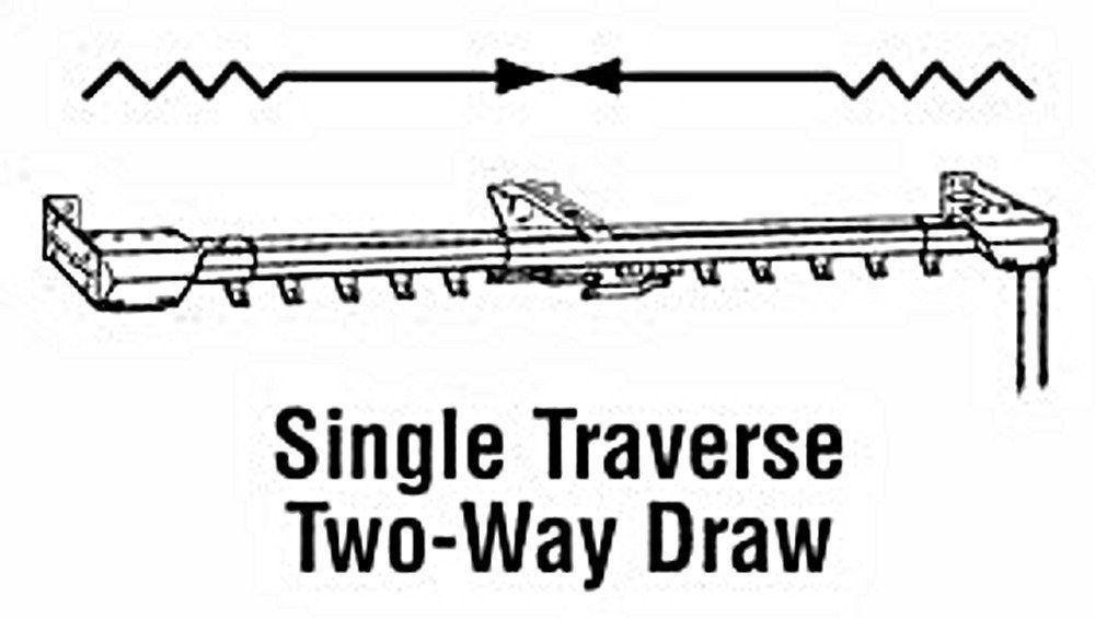 "Kirsch Superfine Single Center Opening Adjustable Traverse Rod (38"" - 66"" )"