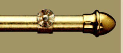 "KIRSCH 28"" - 48"" Brass 13/16"" Diameter Curtain Rod"