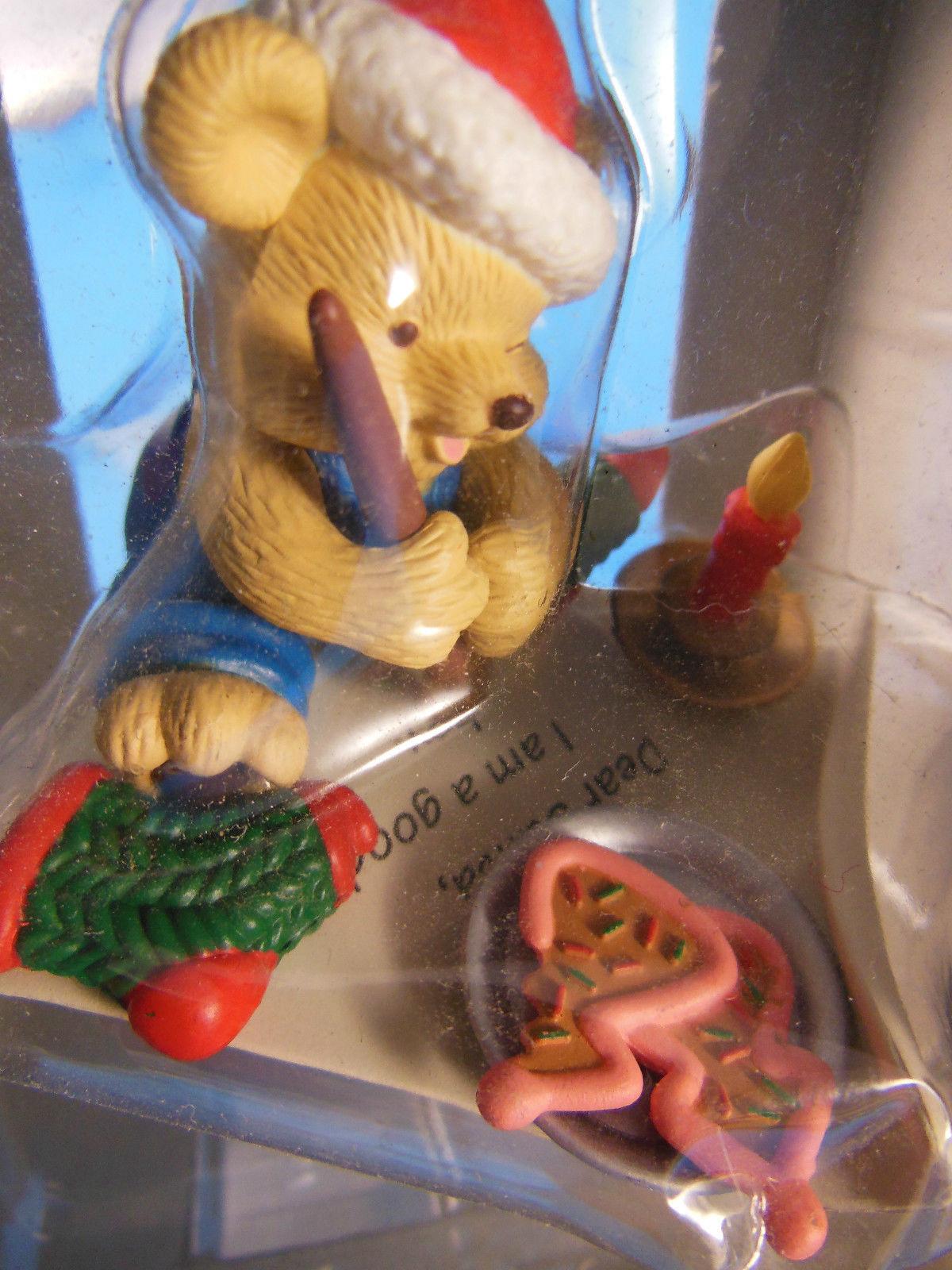 Kirkland Ornament Dear Santa I am a good boy Teddy Bear  MIB