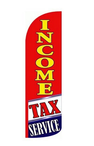 Income Tax Service Windless Swooper Feather Flag  Sign