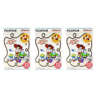 3 Packs Toy Story FujiFilm Fuji Instax Mini Film 30 Photos 7S 8 25 50S Polaroid