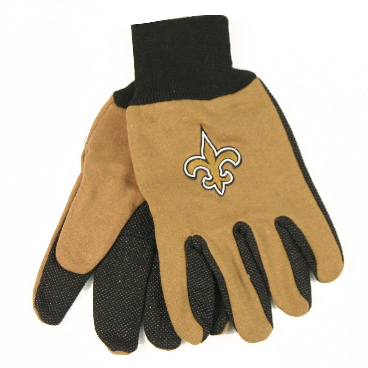 NEW ORLEANS SAINTS TEAM TAILGATE GAME DAY PARTY UTILITY WORK GLOVES NFL FOOTBALL