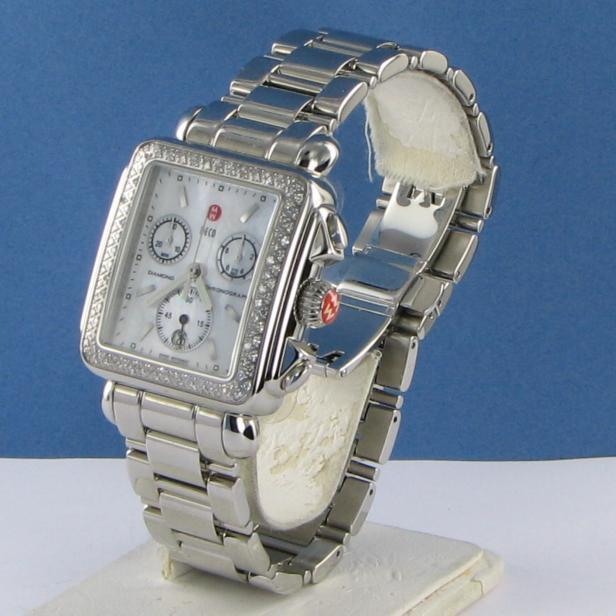 Michele MWW06P000110 Deco Diamond 0.60cts Chronograph Quartz Ladies Watch $1995