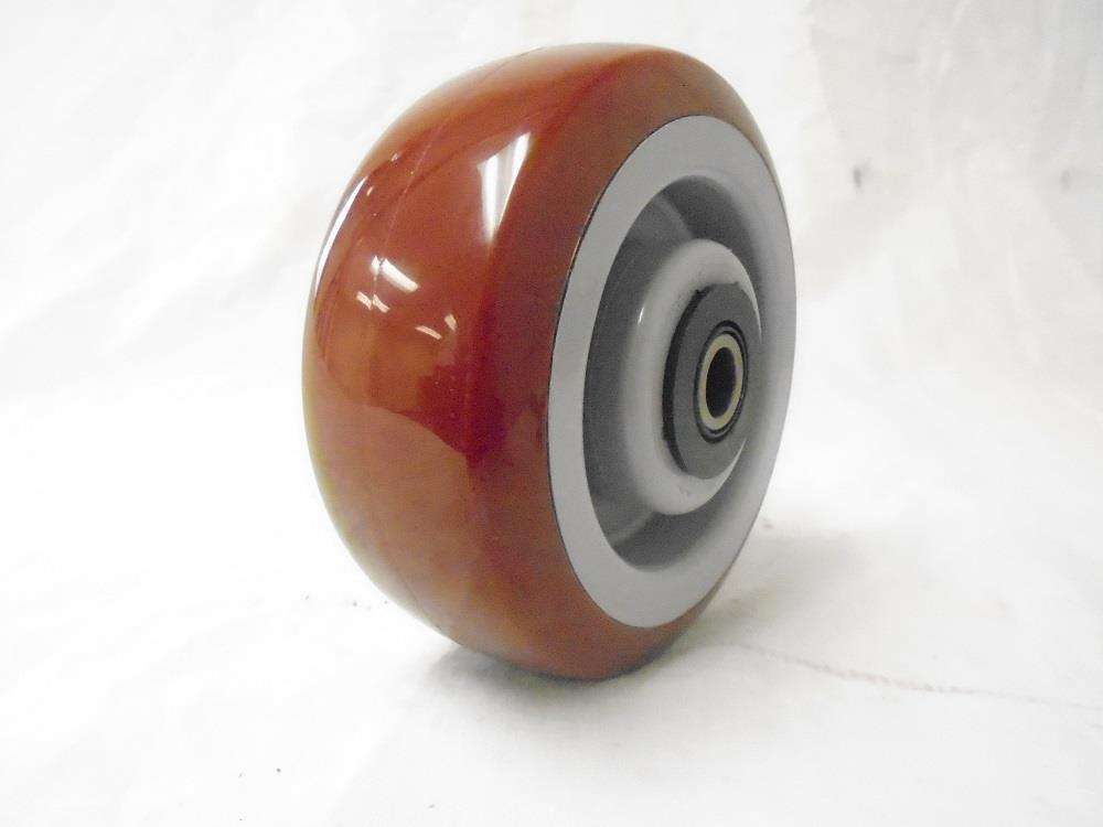 "5"" x 2"" Swivel Caster Burgundy Polyurethane Wheel 600 lbs Tool Box"