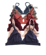 Sexy Floral Sheer Lace Triangle BRALETTE No Pad Low Cleavage Bra Soft Yo... - $6.00+